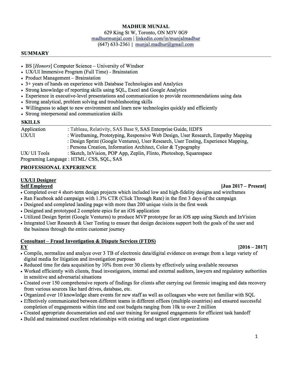 Tableau Experience Resume - Tableau Resume In Examples Resumes for 3 Years Experience