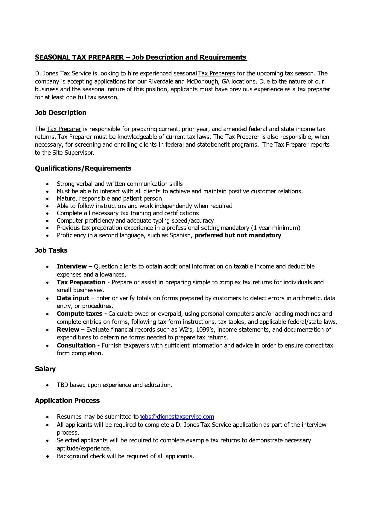 14 tax preparer resume sample collection