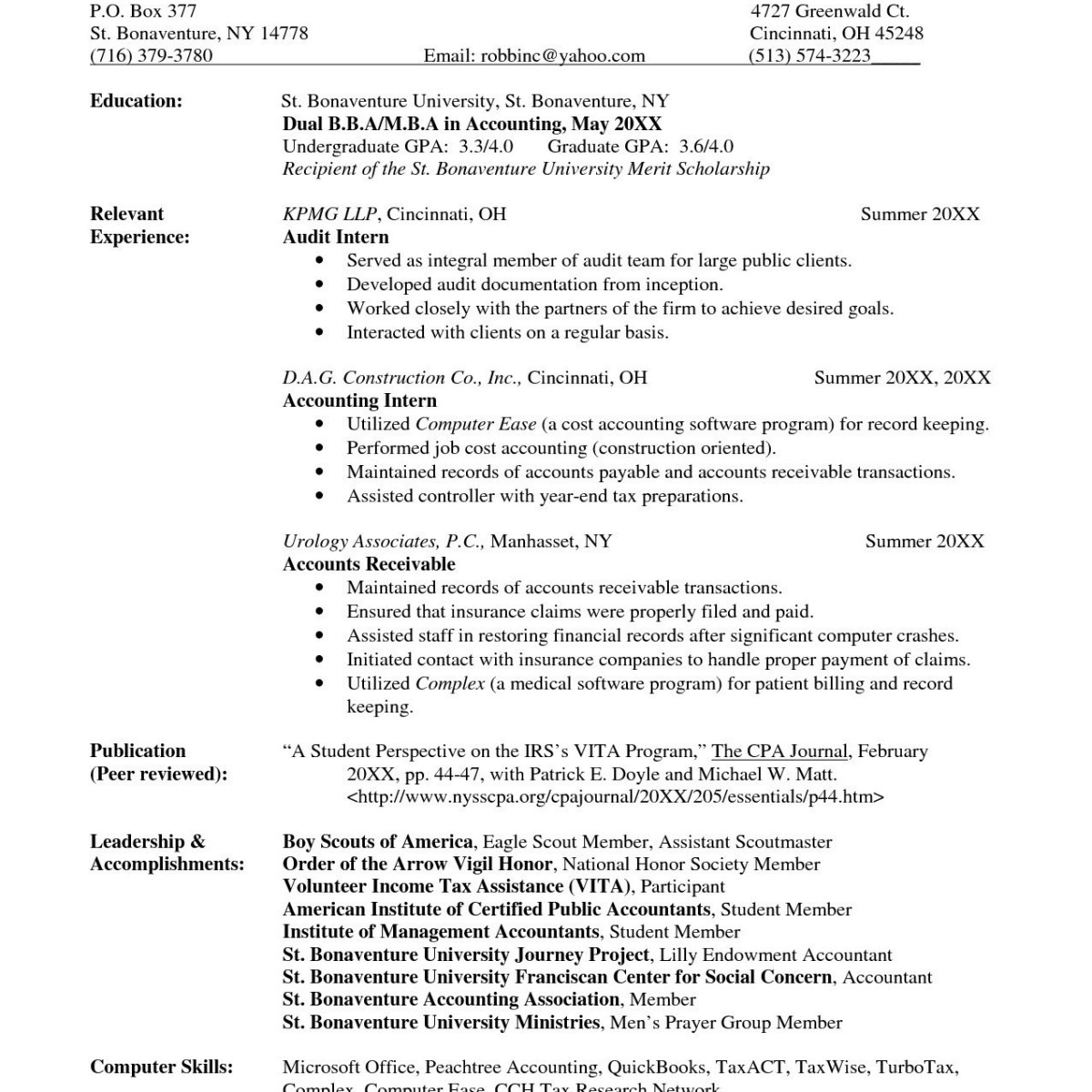 Tax Preparer Resume Samples - Tax Accountant Resume Awesome Resume Template Accounting Elegant