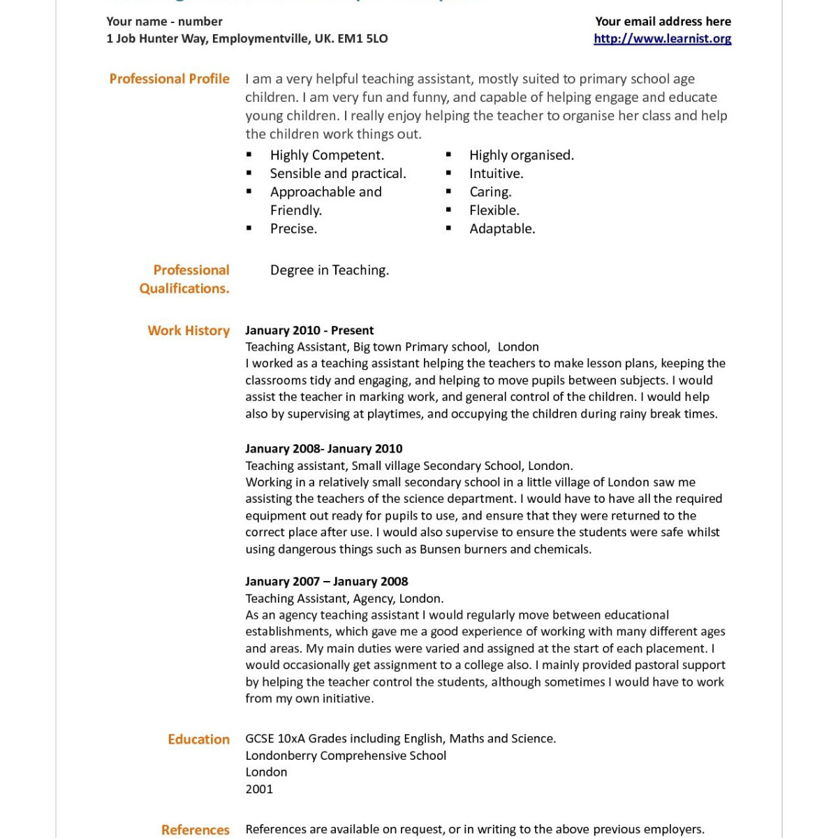 Teacher assistant Resume with No Experience - Teacher assistant Resume with No Experience Dazzling Teacher