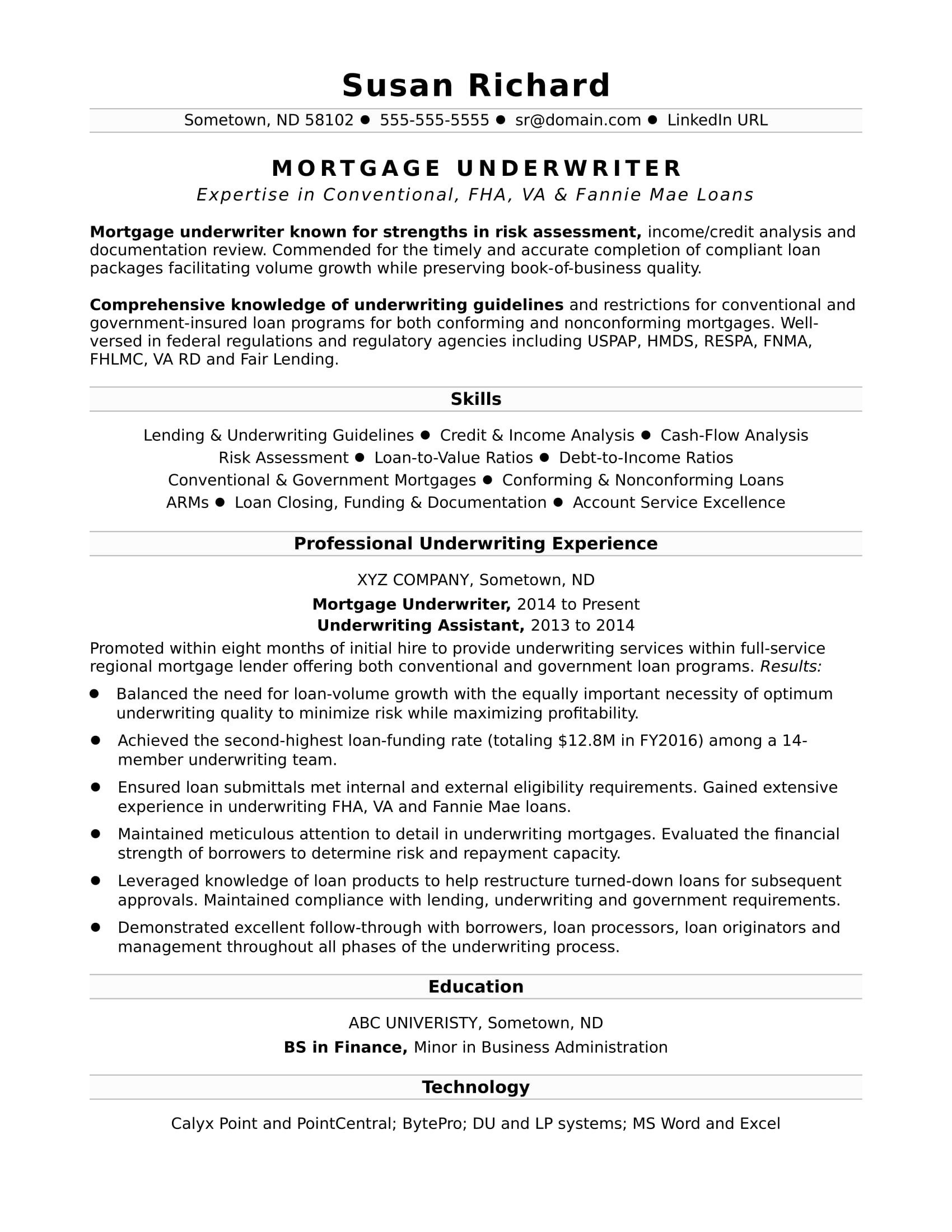 Technical Resume Template - 50 Word Resume Template Free