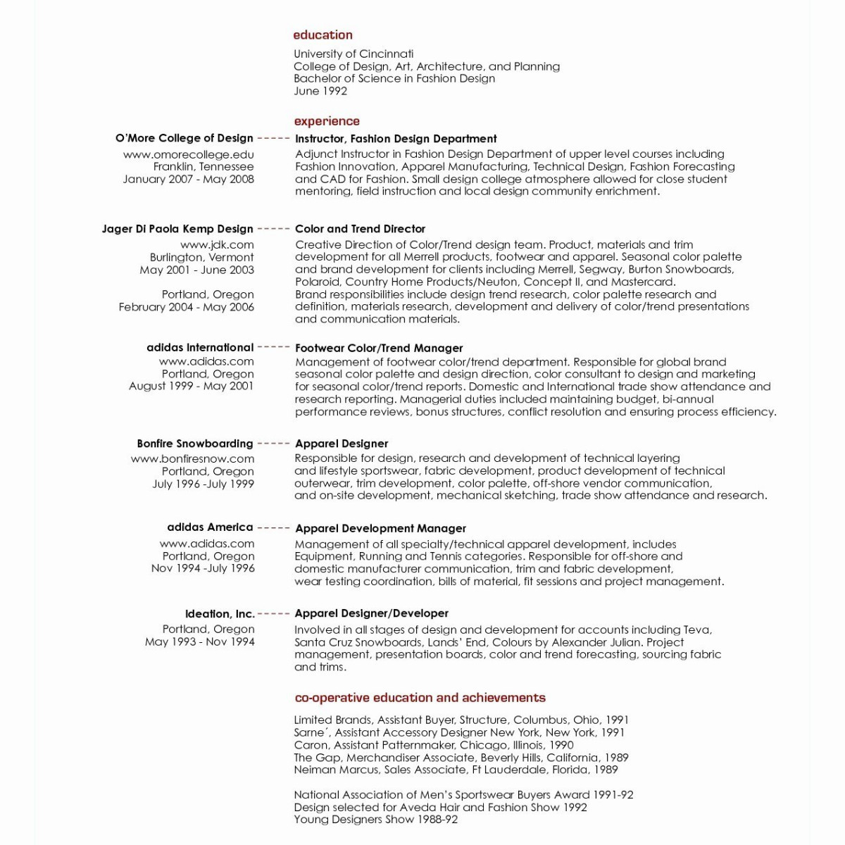 8 technical theater resume template ideas