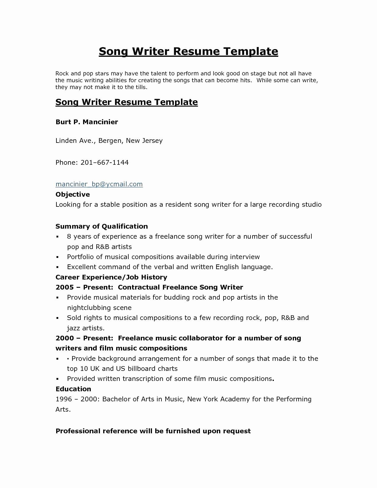 Technical Writer Resume - Technical Writer Resume Lovely College Resume Example Writers Resume