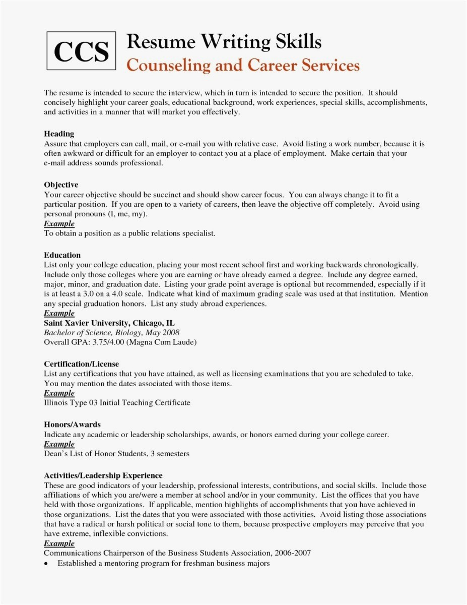 The Resume Place - Good Examples Resumes Inspirational Resume for It Job Unique Best