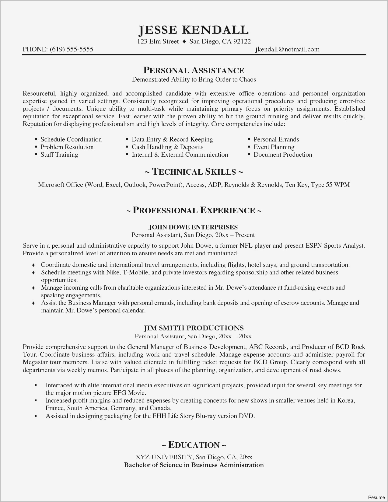 Trainer Resume Example Personal