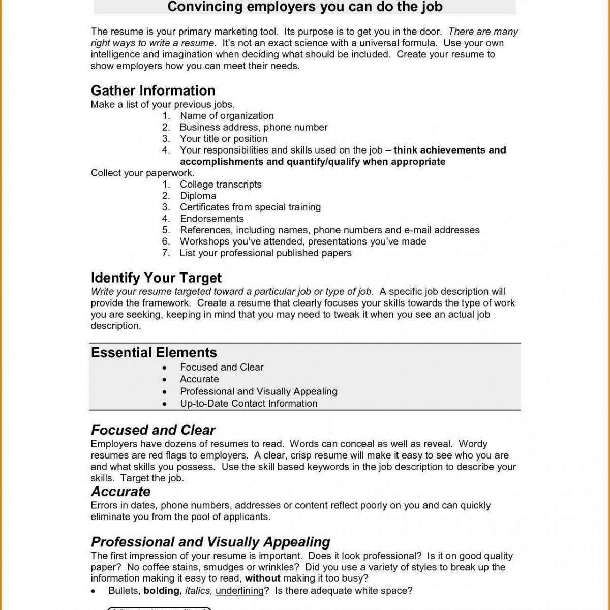 Types Of Resume - Different Types Resumes New Types Resume New Entry Level Resume