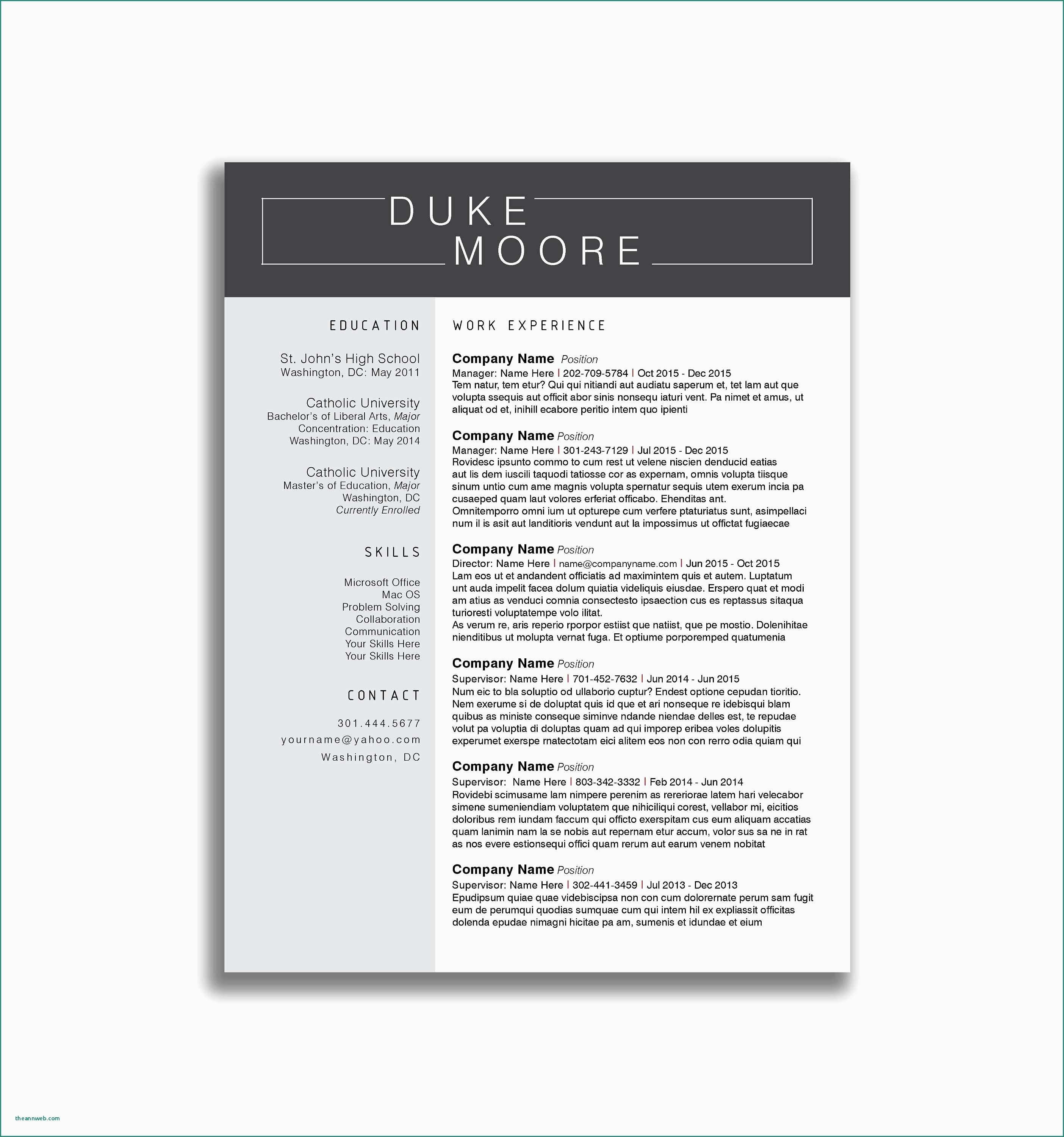 Uchicago Resume Template - Template for Resume References Downloadable Resume Templates Lovely