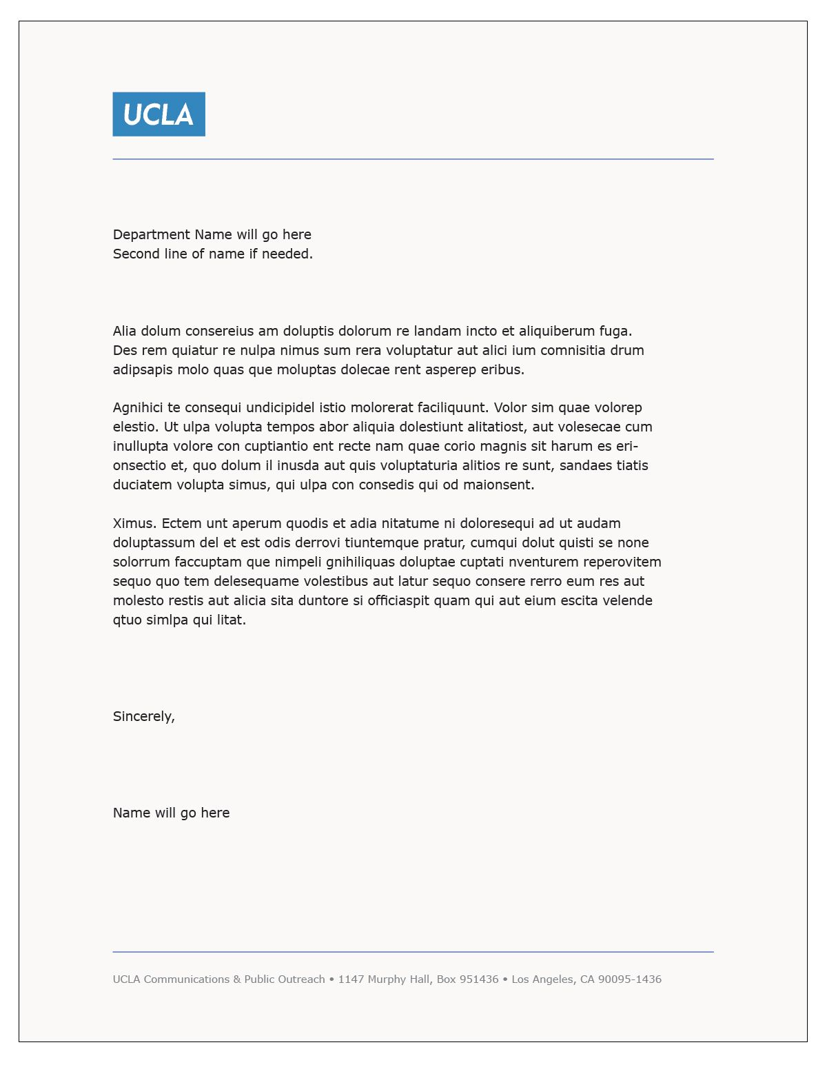 Ucla Resume Template - Cover Letter Template Ucla Cover Letter Template
