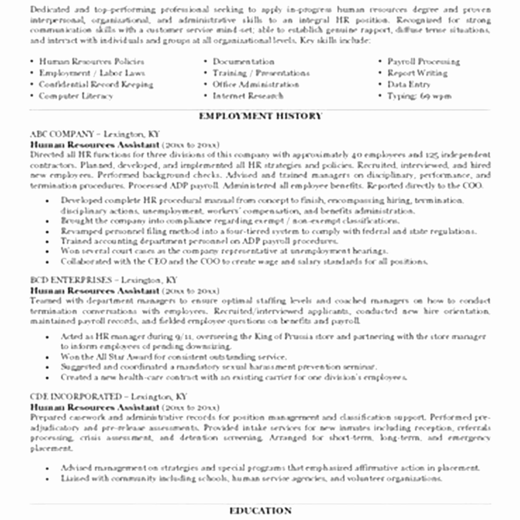 Uconn Resume Template - Objective for Resume In Administrative assistant Fresh Resume