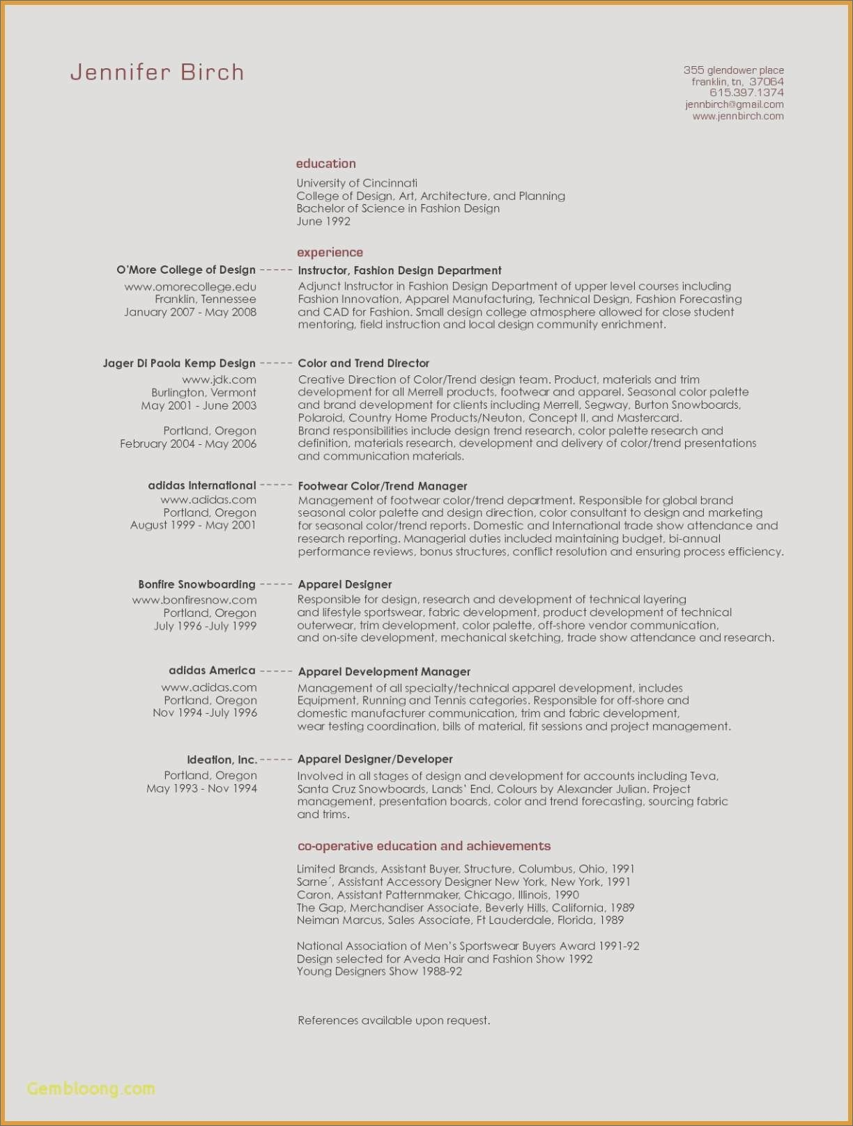 Uiuc Resume Template - Sample Resume for Teachers Best Sample Architecture Resumes Nanny