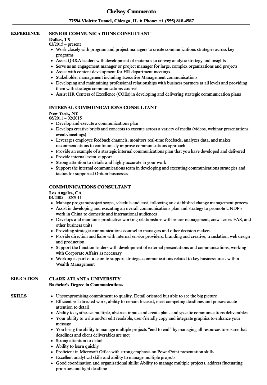 Upwardly Global Resume Template - Munications Consultant Resume Samples