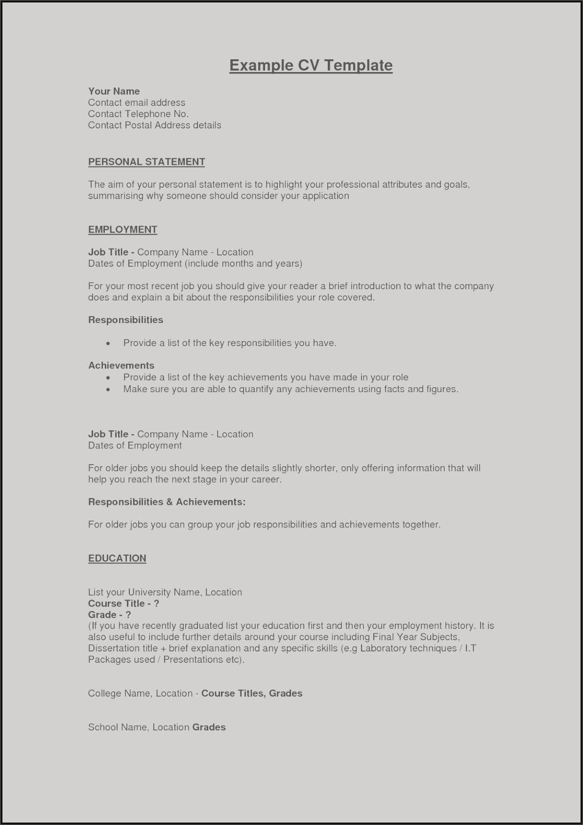 Us Resume Template - 89 Inspirational Examples Great Resumes Chart Image