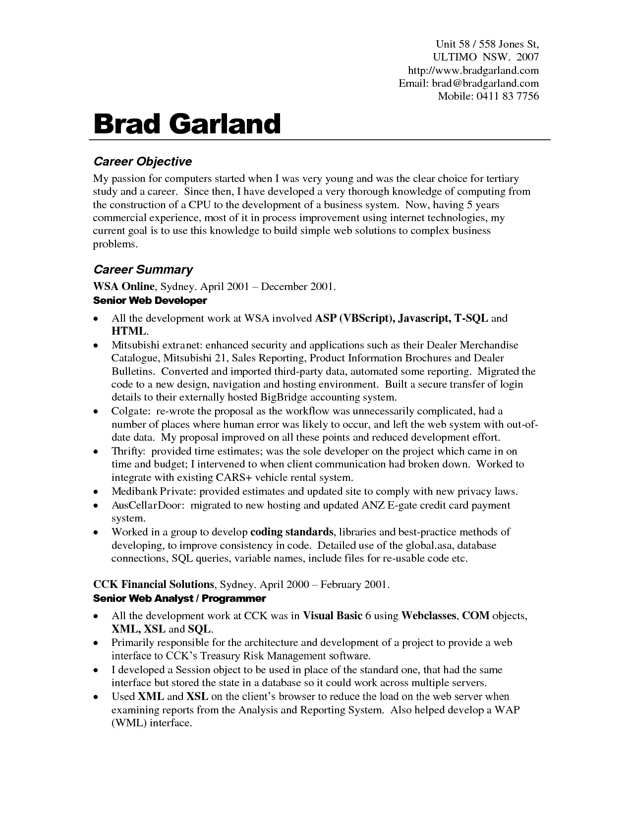 Ut Sample Resume - Resume Objectives Examples Best Templateresume Objective Examples