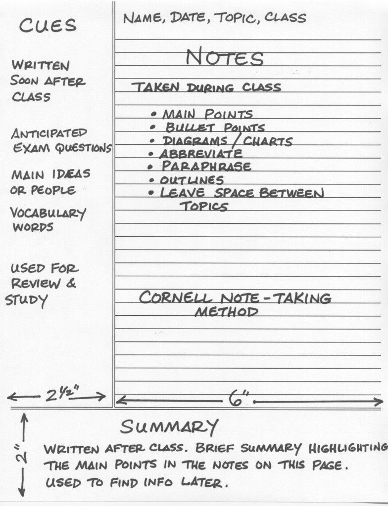 Ut Sample Resume - Cornell Note Taking Method Journals Notebooks & Paper