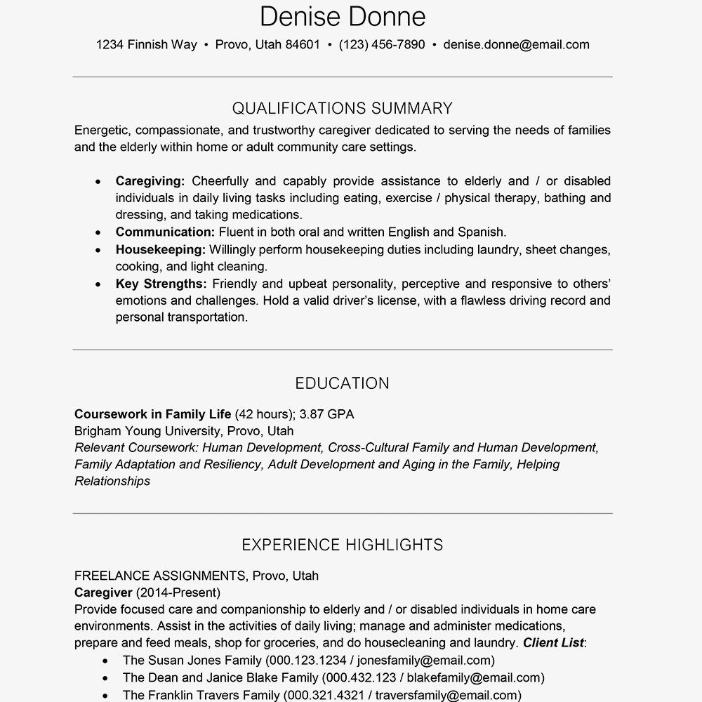 ut sample resume Collection-Sample Resume Text Version 12-s