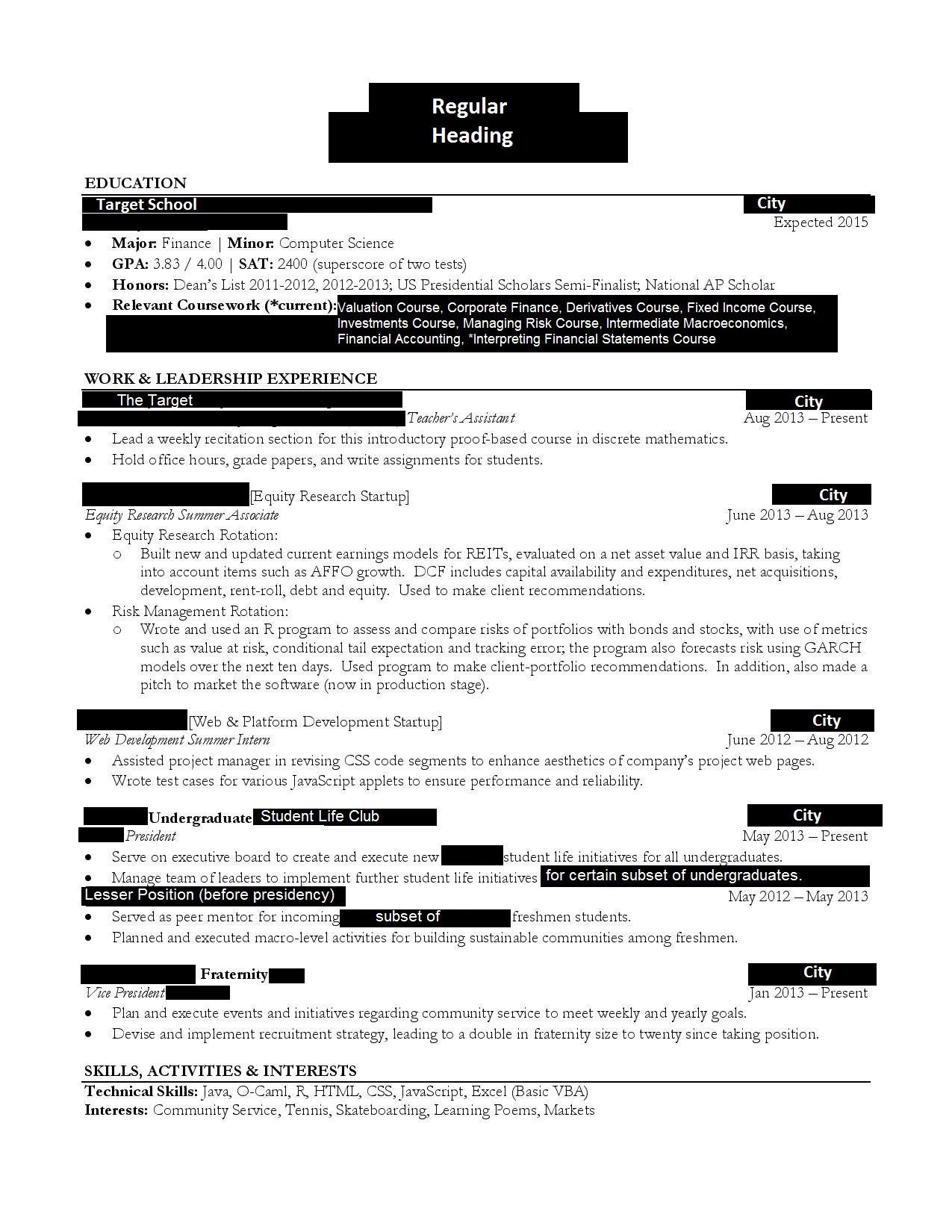 Wall Street Oasis Resume Template - Wall Street Oasis Resume Review Essay Online the University Of