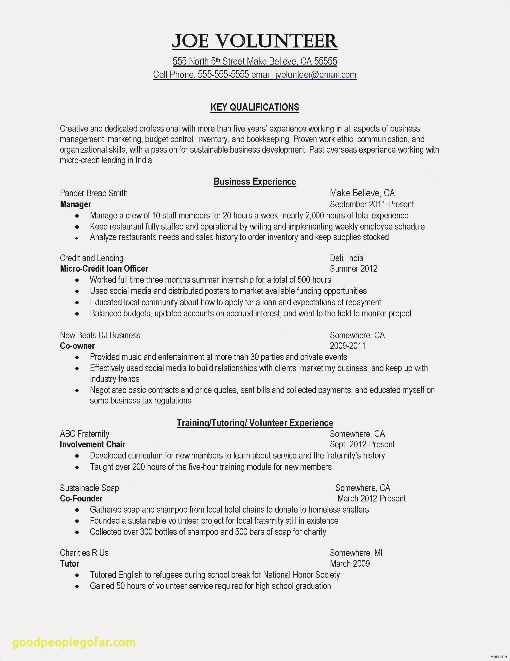 Wall Street Resume Template - Resume Template Pdf Beautiful Examples Resumes Fresh Resume Examples