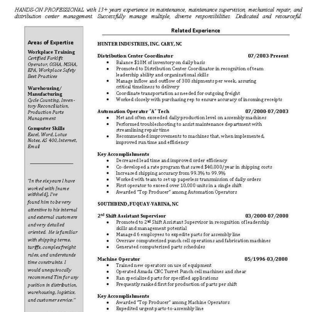 Warehouse Manager Job Description for Resume - Download Lovely Warehouse Manager Resume