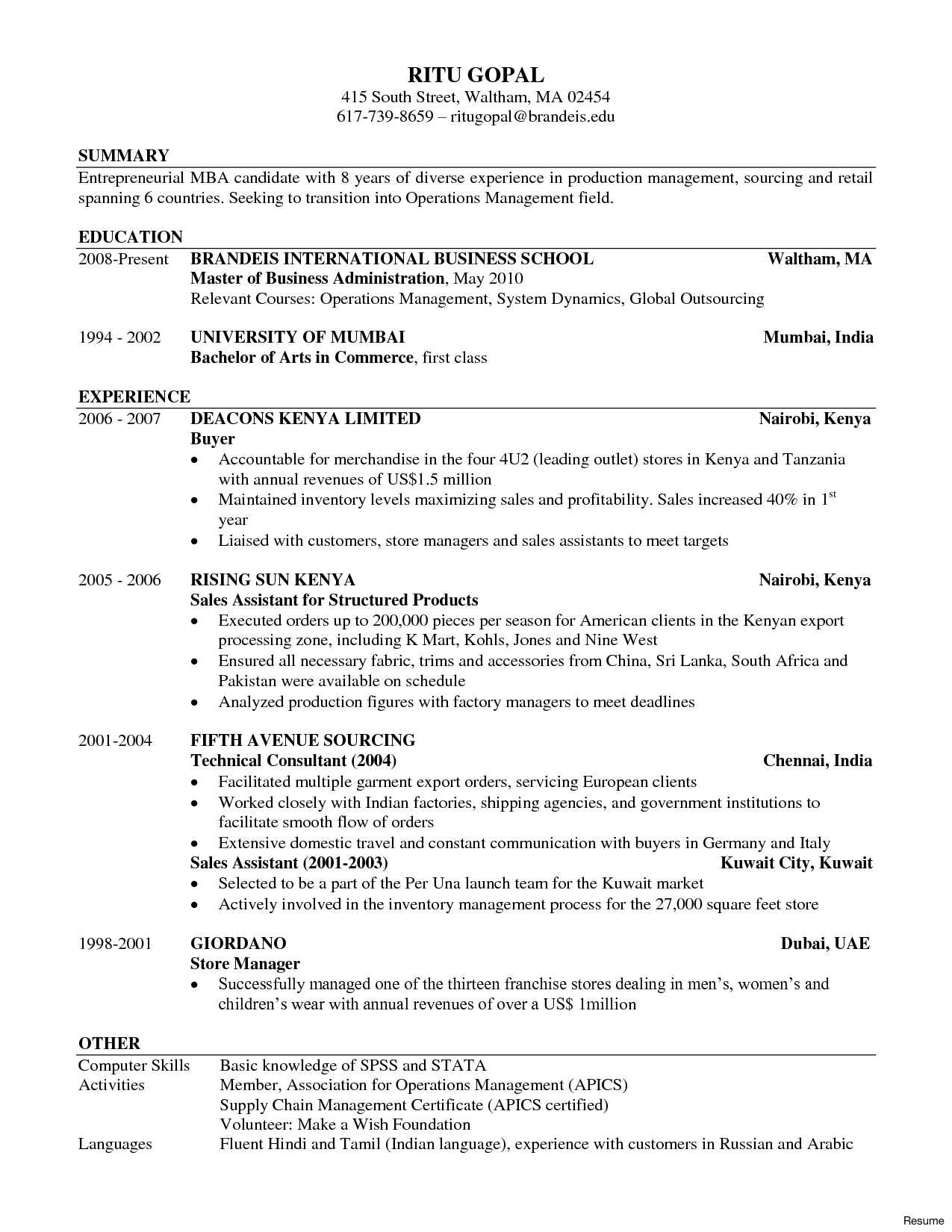 Wharton Mba Resume Template - Best Mba Resume Nmdnconference Example Resume and Cover Letter