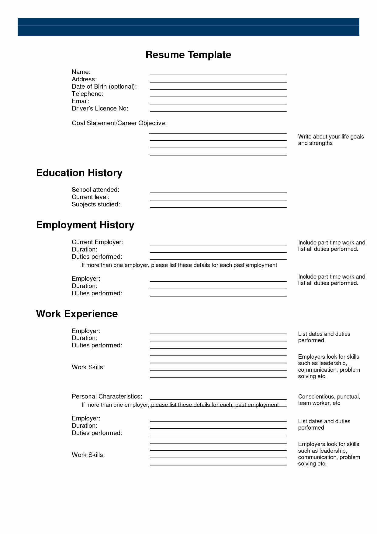 What Employers Look for In A Resume - Fill In Resume Template Awesome Resume Sample for Job From I Pinimg