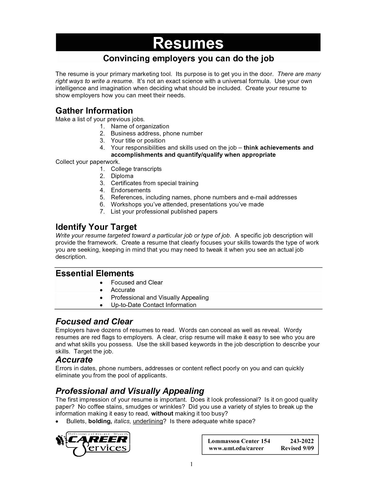 What Employers Look for In A Resume - 44 Best Server Job Description Resume