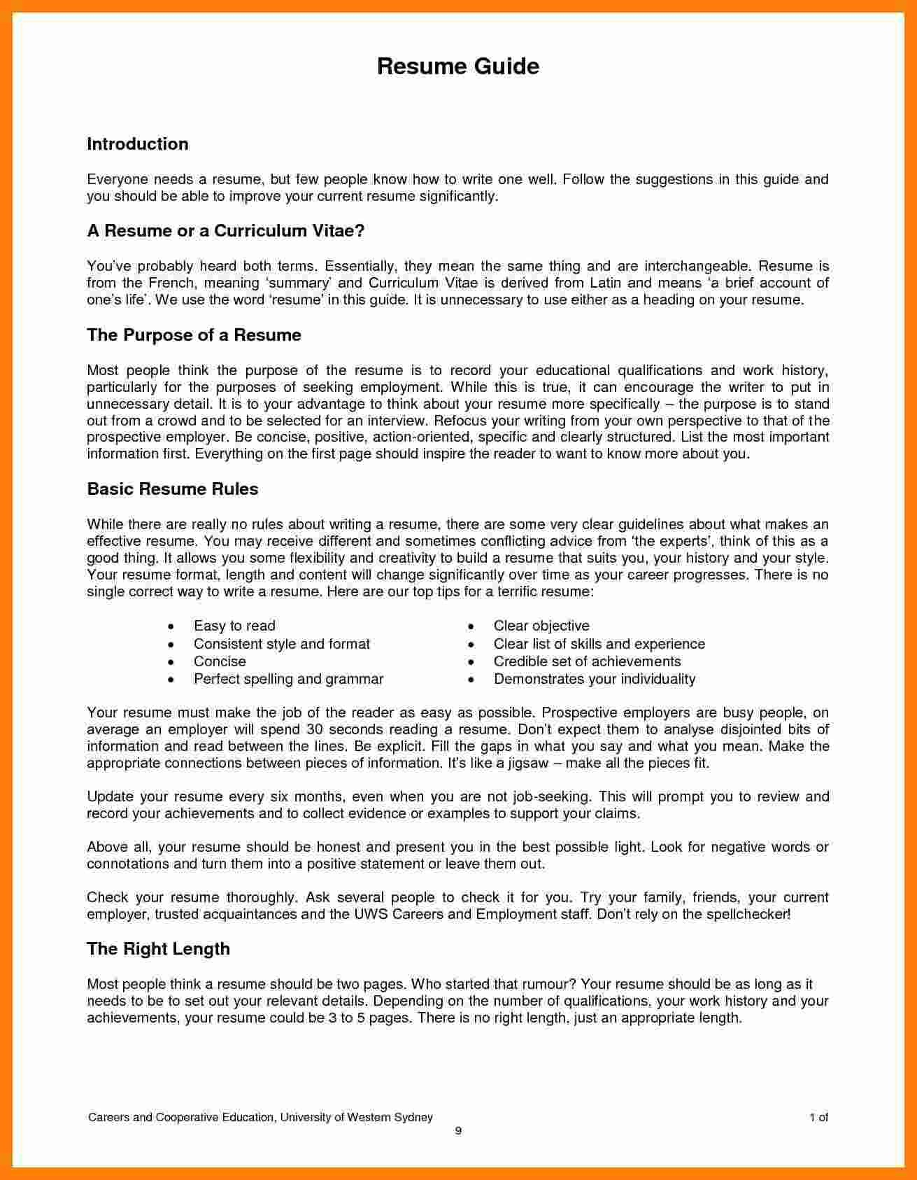 What Employers Look for In A Resume - Government Resume Examples Lovely Unique Federal Government Resume