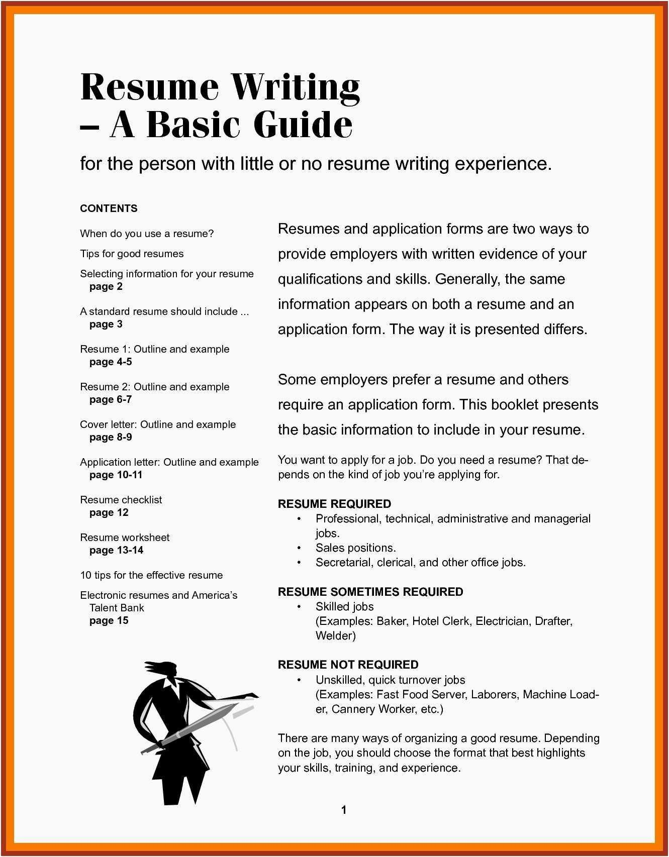 What Should Be Included In A Resume - Summary for Resume Elegant Beautiful Examples Resumes Ecologist