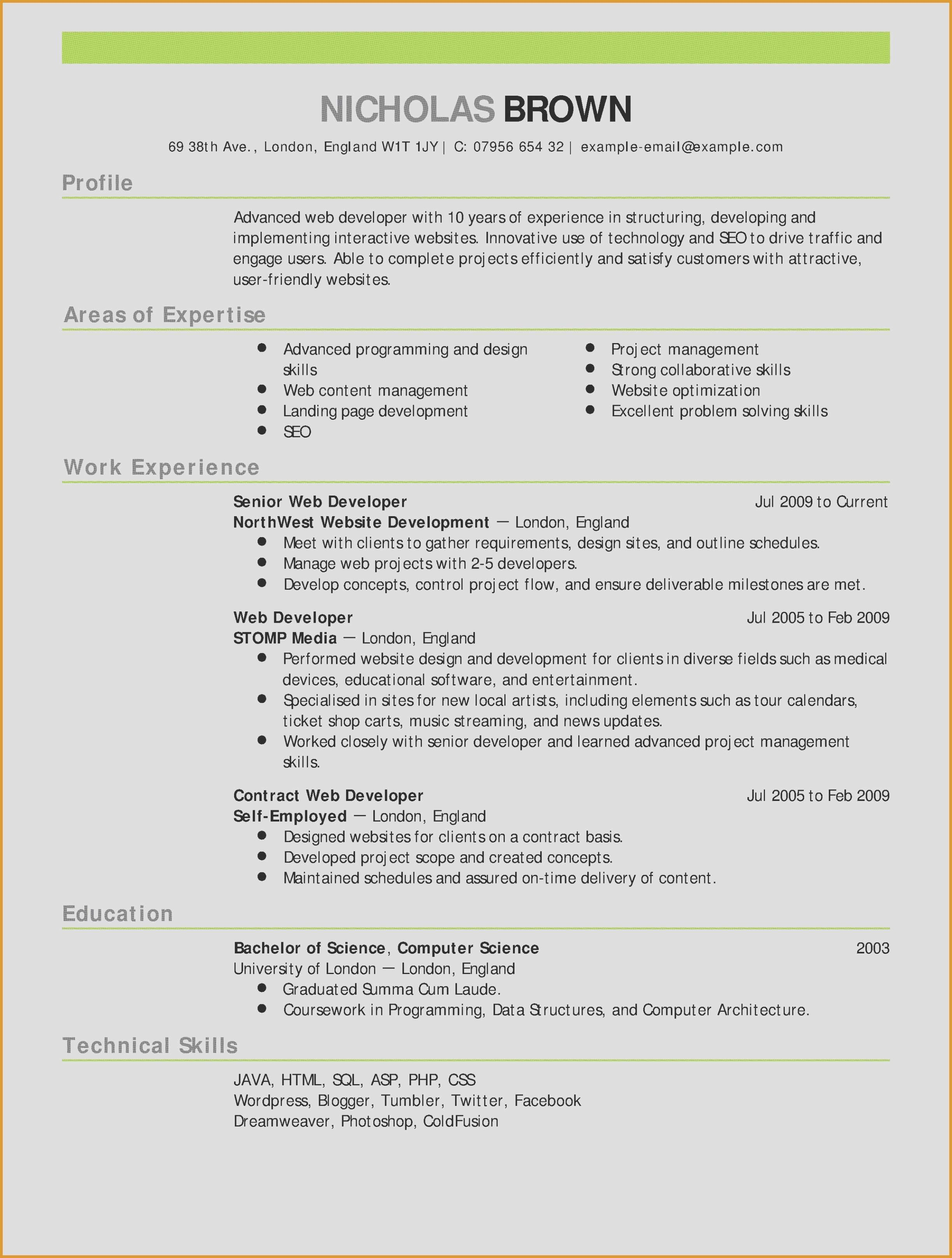 Word 2003 Resume Template - Resume Template Word Lovely Functional Resume Template Word Pour