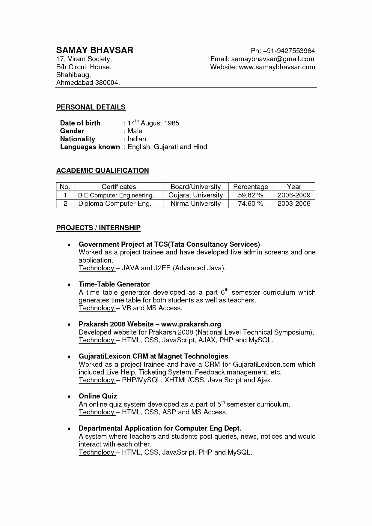 Word format Resume - Resume format for Word Valid Elegant Latest Resume format S Media
