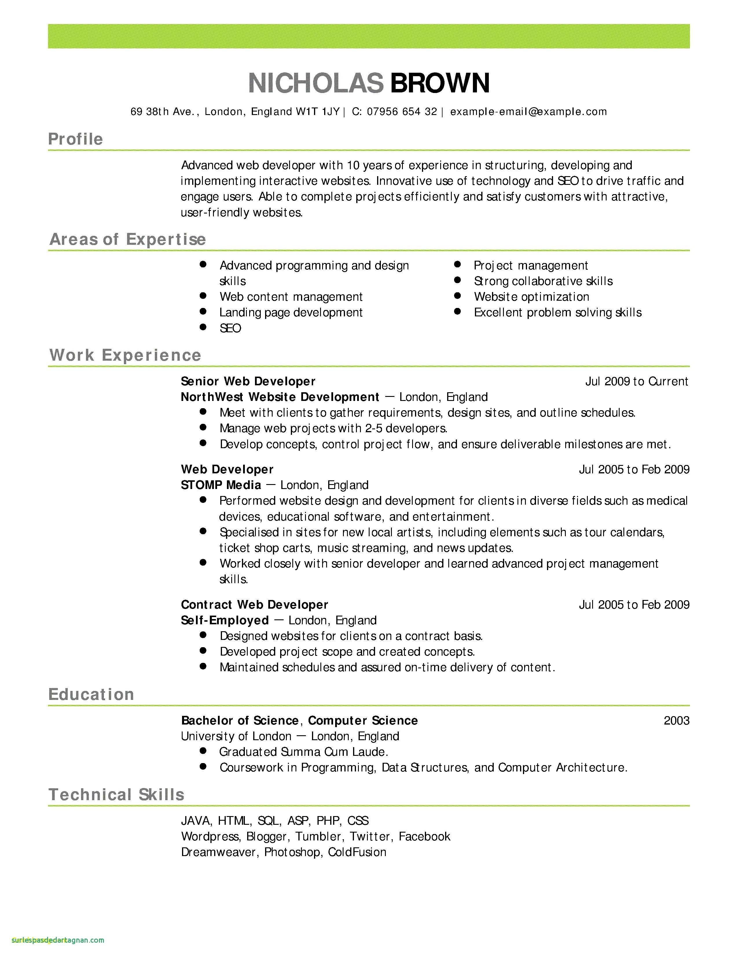 Word Resume Templates - 16 Luxury Word Resume Template Land Of Template