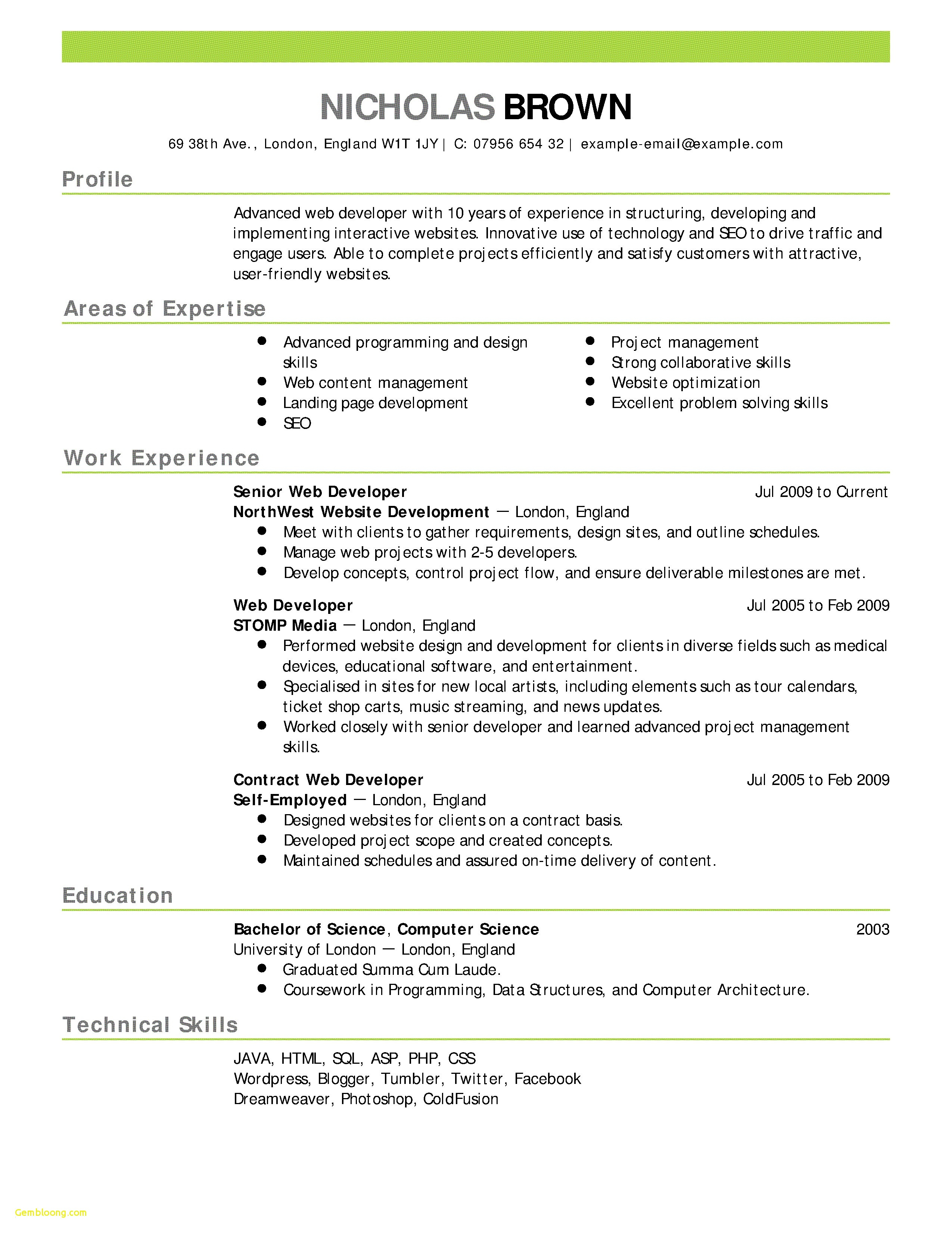Word Resume Templates Free - Simple Basic Resume format New Simple Job Resume Template Lovely