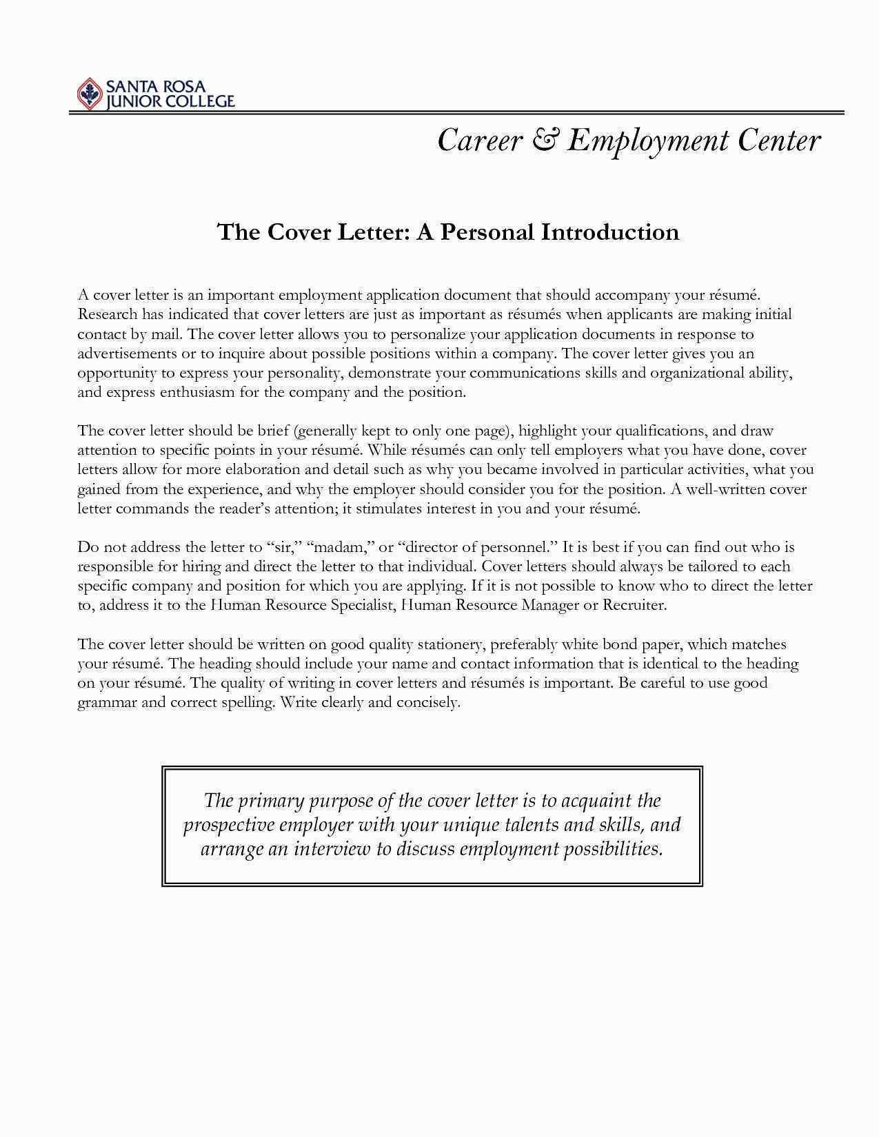 Writing A Cover Letter for A Resume - College Graduate Cover Le Refrence Legal Cover Letter Sample Unique