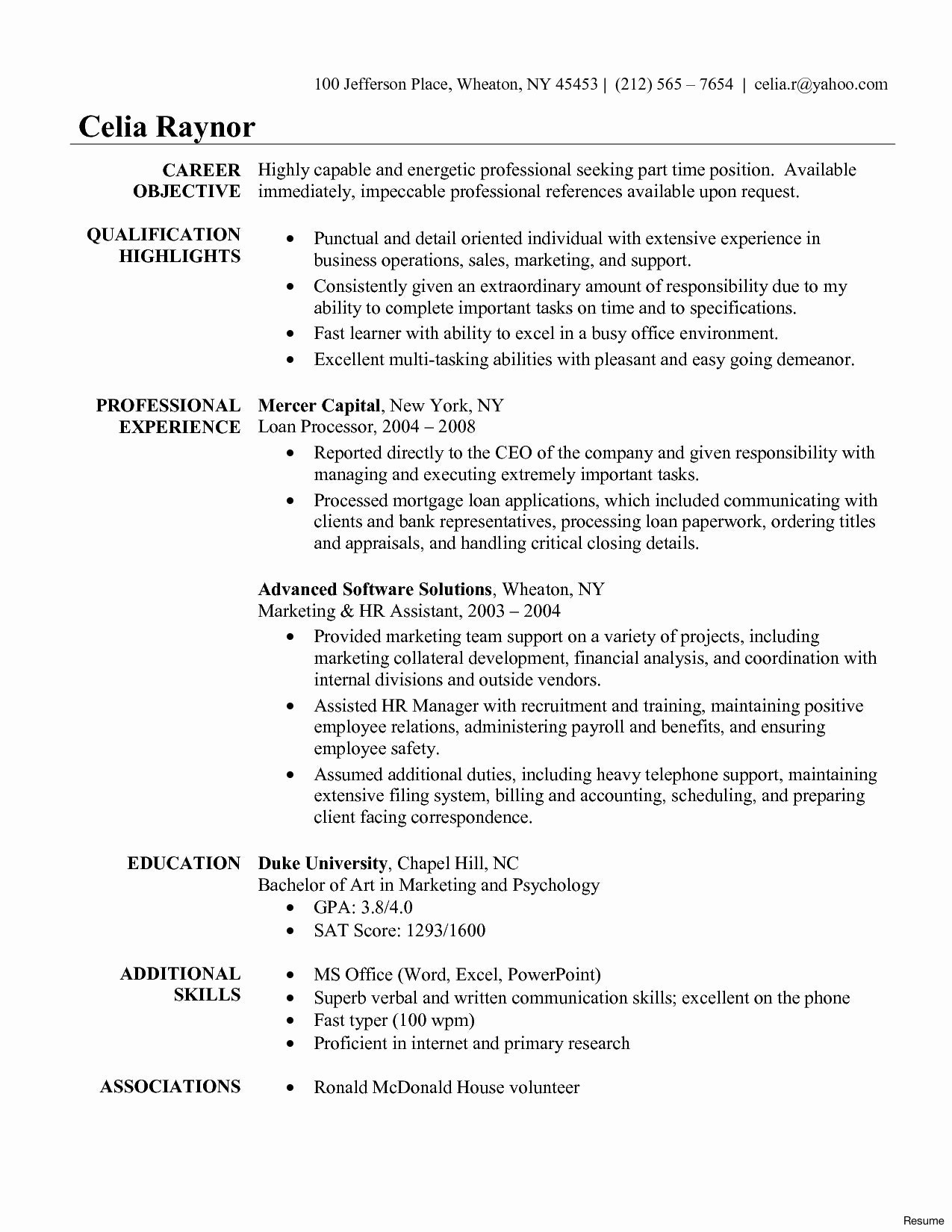 Yahoo Ceo Resume Template - Individual Development Unique Law Student Resume Template Best