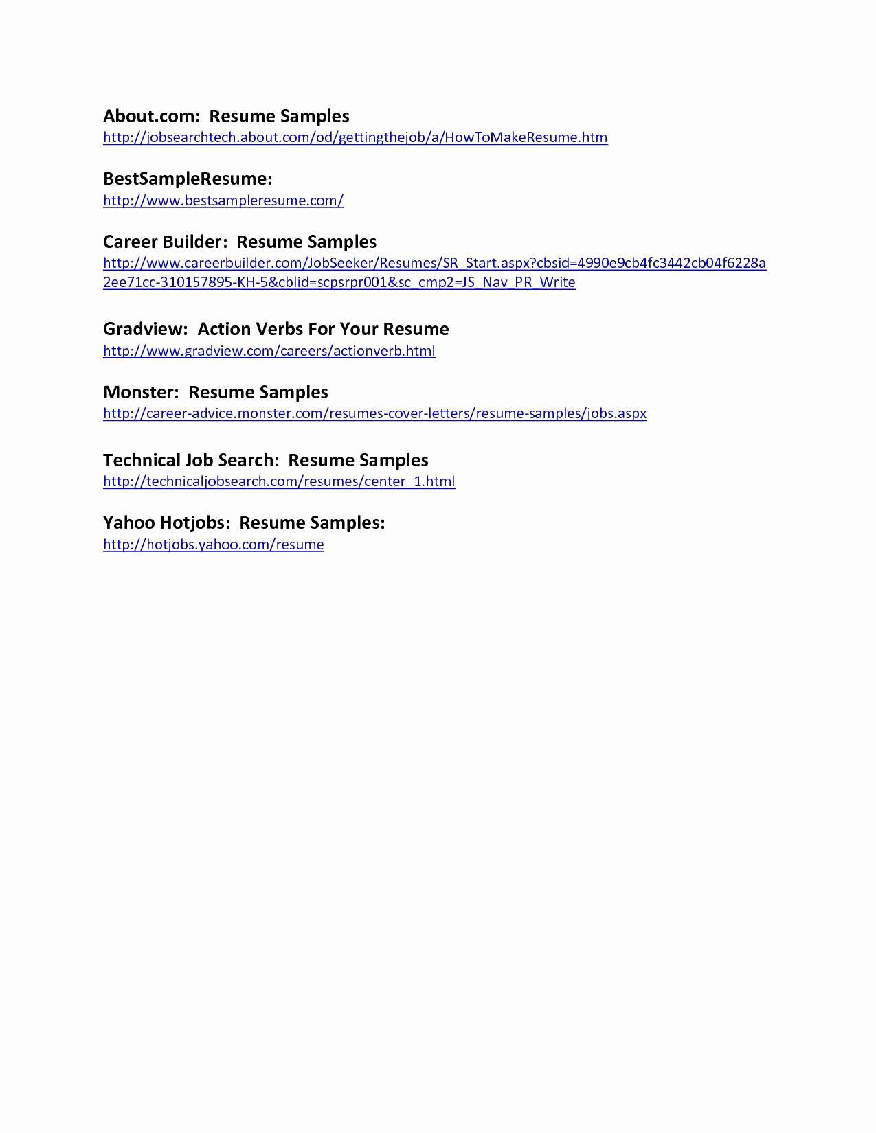 Yahoo Ceo Resume Template - Federal format Resume Popular Federal Government Resume Template