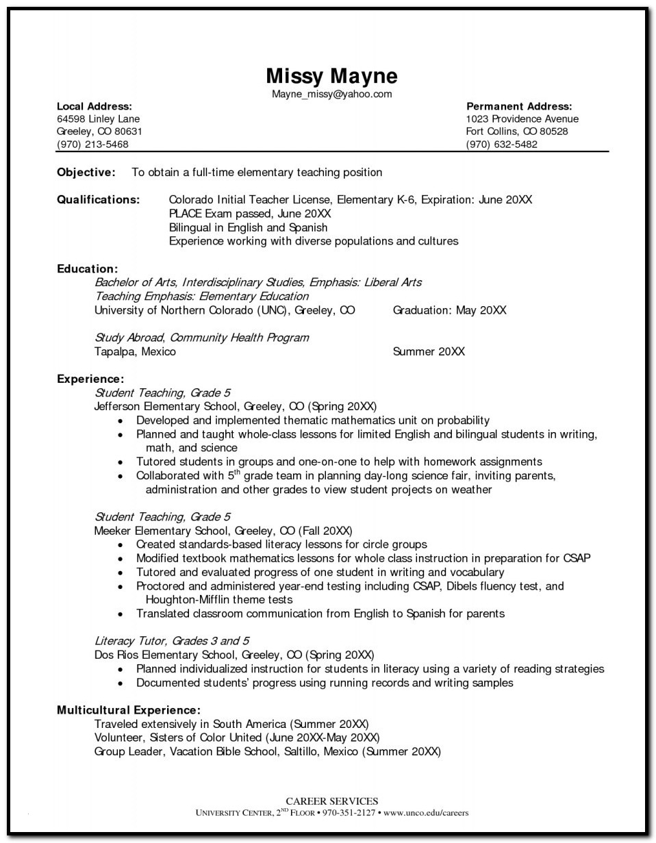 Yoga Teacher Resume Template Little Experience - Teacher Resume Template Download Unique Teacher Resume Resume Cv