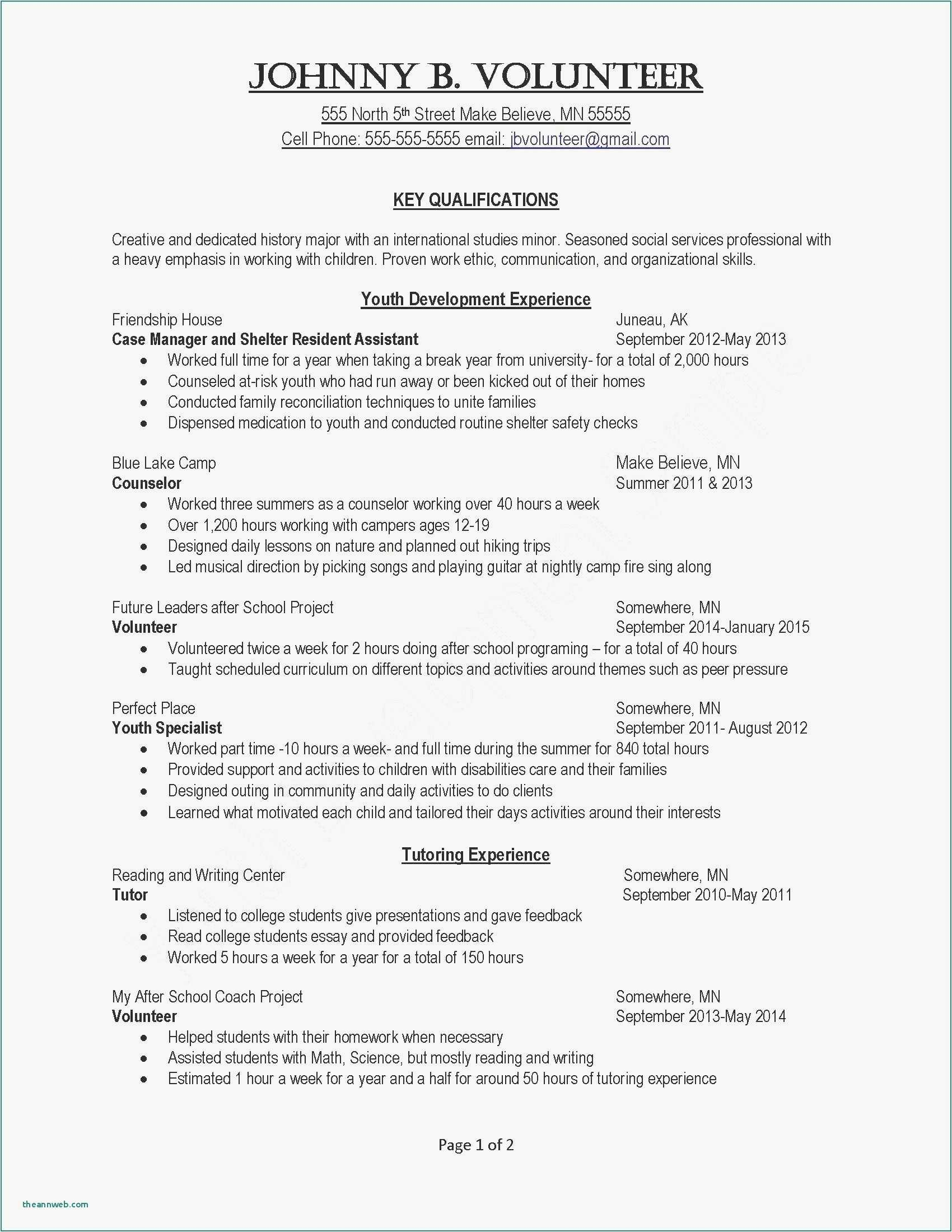 Youth Minister Resume Template - 29 Resume Exaples New